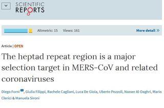 Scientific reports mers virus salto specie bicocca milano