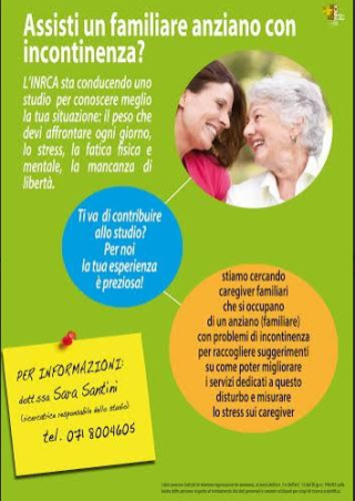 Santini, caregiver, anziani, urologia, stress, inrca