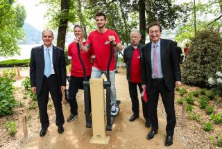 Inaugurazione  borradori  lugano  svizzera  parco ciani  spot  attivita fisica