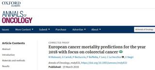 Annals of Oncology  la vecchia  tumore  cancro  polmone  donne  dati  ricerca  incidenza  europa  fumo  endoscopia  diagnosi  screening