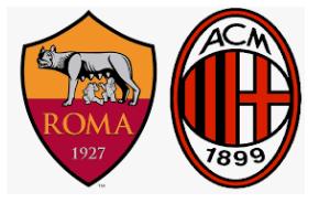 Roma  milan  gattuso  di francesco  partita  champions  campionato