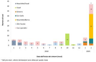 Svizzera  casi  cantoni  morbillo  virus