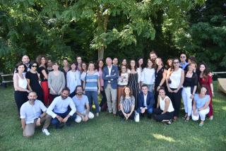 La squadra di Cochlear Italia-al centro l'AD Carlo Martinelli