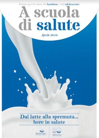 Scuola  salute  bambino  gesu'  spremuta  bere  energy drink  ugazio  lattosio