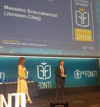 Scaccabarozzi  premio  le fonti  awards  janssen
