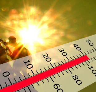 Clima  caldo  temperatura  termometro