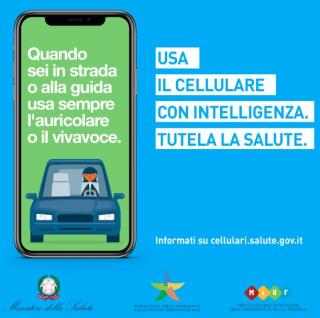 Campagna  ministero  salute  uso  cellulare  auto  ambiente  onde  auricolari