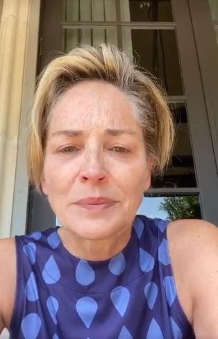 Sharon stone  covid-19  coronavirus  stent  cuore  madre  contagio  infezione  sorella  instagram  video