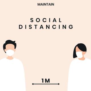 Social distancing. distanziamento
