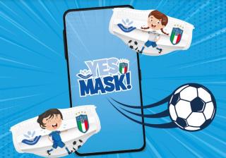 FIGC  azzurri  mask  coronavirus  covid-19  bambino  gesu'  instagram  foto  calcio