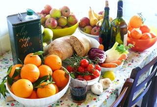 Dieta  mediterranea  cibo  italia